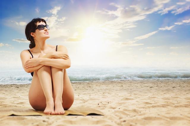 slunce za ženou