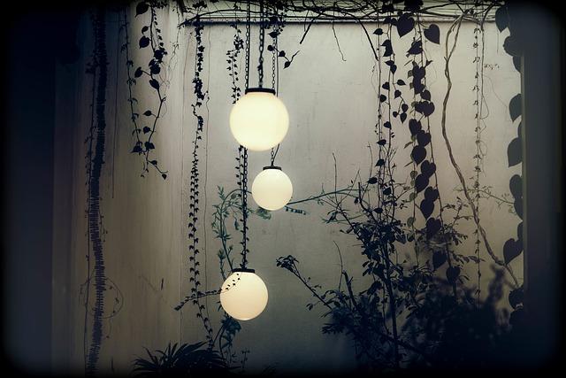 osvětlení na zahradě