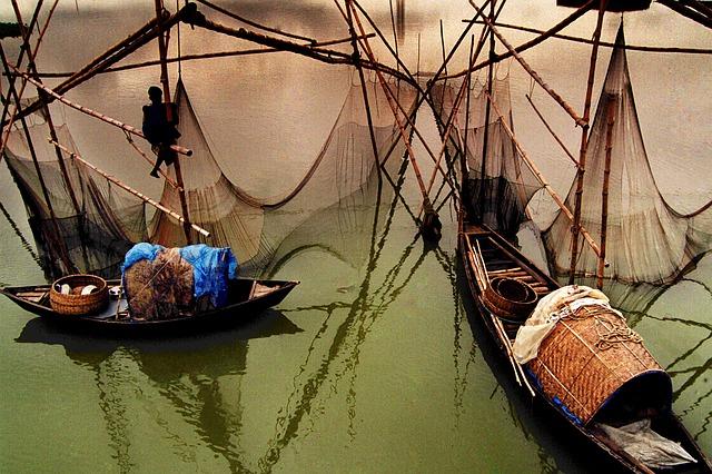 čluny v Bangladéši