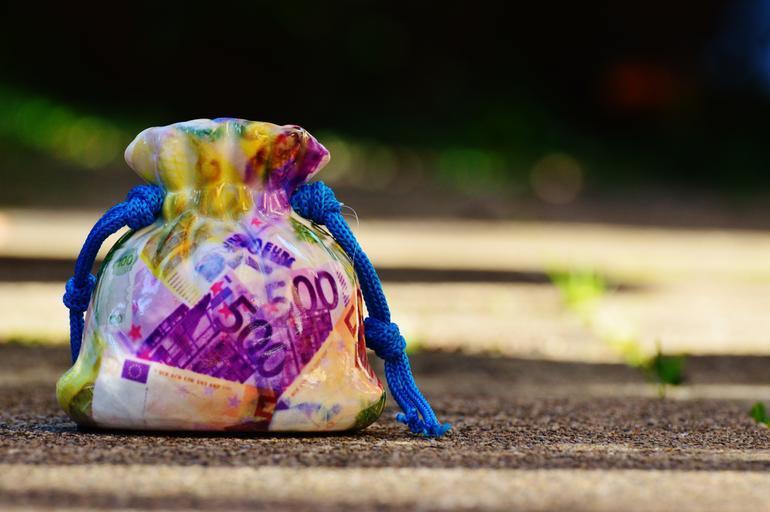 sáček s penězi
